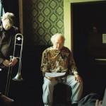Philip Corner and Hilary Jeffrey perform gamelan MU